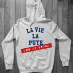 LA VIE LA PUTE sweat  HEATHER GREY